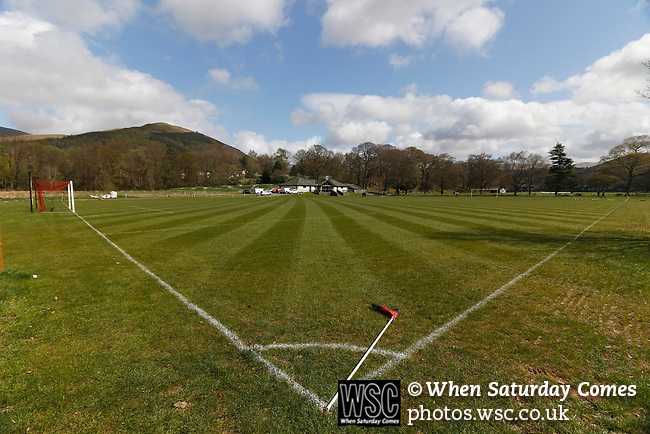 Keswick 1 Kendal 1, 15/04/2017. Fitz Park, Westmoreland League. The pitch in good condition before kick off. Photo by Paul Thompson.