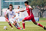 Ziyi Yang R&F F.C (L) fights for the ball with Runqiu Che of Kwoon Chung Southern (R) during the week three Premier League match between Kwoon Chung Southern and R&F at Aberdeen Sports Ground on September 16, 2017 in Hong Kong, China. Photo by Marcio Rodrigo Machado / Power Sport Images