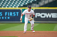 Houston Cougars first baseman Joe Davis (44) on defense  against the Kentucky Wildcats in game two of the 2018 Shriners Hospitals for Children College Classic at Minute Maid Park on March 2, 2018 in Houston, Texas.  The Wildcats defeated the Cougars 14-2 in 7 innings.   (Brian Westerholt/Four Seam Images)