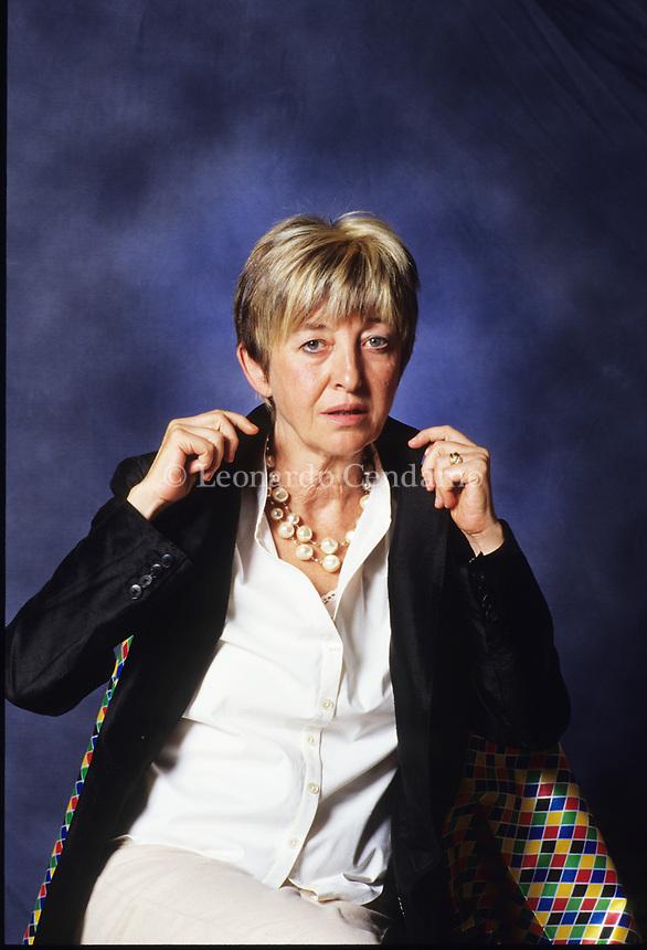 Italian Philosopher Adriana Cavaredo. Modena, settembre 2003.  © Leonardo cendamo