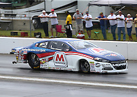 Jun 4, 2016; Epping , NH, USA; NHRA pro stock driver Allen Johnson during qualifying for the New England Nationals at New England Dragway. Mandatory Credit: Mark J. Rebilas-USA TODAY Sports