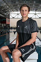 Bradlee Ashby. Swimming New Zealand Gold Coast Commonweath Games Team Announcement, Owen G Glenn National Aquatic Centre, Auckland, New Zealand,Friday 22 December 2017. Photo: Simon Watts/www.bwmedia.co.nz