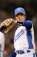 17 March 2009: #8 Keun Woo Jeong of Korea warms up prior to the 2009 World Baseball Classic Pool 1 game 4 at Petco Park in San Diego, California, USA. Korea wins 4-1 over Japan.