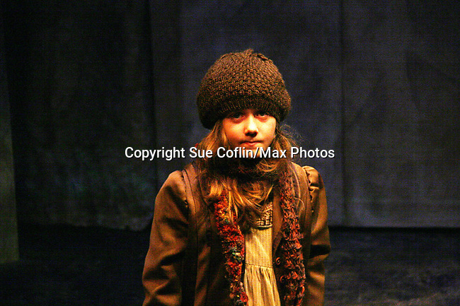"Isabella Convertino (daughter of Liz Keifer) stars as Mary Lennox as Philipstown Depot Theatre presents The Secret Garden on November 7, 2009 in Garrison, New York. It runs Oct. 23 until Nov 15, 2009. The musical The Secret Garden is the story of ""Mary Lennox"", a rich spoiled child who finds herself suddenly an orphan when cholera wipes out the entire Indian village where she was living with her parents. She is sent to live in England with her only surviving relative, an uncle who has lived an unhappy life since the death of his wife 10 years ago. ""Archibald's son Colin"", has been ignored by his father who sees Colin only as the cause of his wife's death.This is essentially the story of three lost, unhappy souls who, together, learn how to live again while bringing Colin's mother's garden back to life. (Photo by Sue Coflin/Max Photos)...."