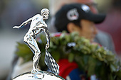 Verizon IndyCar Series<br /> Indianapolis 500 Winner Portrait<br /> Indianapolis Motor Speedway, Indianapolis, IN USA<br /> Monday 29 May 2017<br /> Winner Takuma Sato, Andretti Autosport Honda and Borg-Warner Trophy<br /> World Copyright: Michael L. Levitt<br /> LAT Images