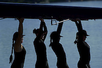 The women's team competes in Redwood Shores, CA on March 31, 2001.<br />