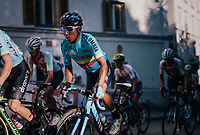 Nairo Quintana (COL/Movistar) up the final climb<br /> <br /> MEN ELITE ROAD RACE<br /> Kufstein to Innsbruck: 258.5 km<br /> <br /> UCI 2018 Road World Championships<br /> Innsbruck - Tirol / Austria