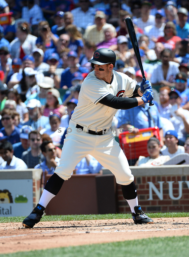 Chicago Cubs Anthony Rizzo (44) during a game against the Cincinnati Reds on July 6, 2016 at Wrigley Field in Chicago, IL. The Reds beat the Cubs 5-3.