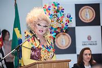 SÃO PAULO,SP, 13.06.2017 - PARADA-SP - A drag queen Tchaka, durante coletiva de imprensa da Parada do Orgulho LGBT na sede da Prefeitura de São Paulo nesta terça-feira, 13. (Foto: Rogério Gomes/Brazil Photo Press)