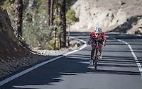 Team Trek-Segafredo winter training camp with Alberto Contador descending the Tiede Volcano in Tenerife<br /> <br /> january 2017, Tenerife/Spain