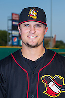 J.D. Davis (36) of the Quad Cities River Bandits poses for a photo prior to the game against the Bowling Green Hot Rods at Bowling Green Ballpark on July 26, 2014 in Bowling Green, Kentucky.  (Brian Westerholt/Four Seam Images)