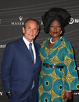 LOS ANGELES, CA - OCTOBER 5 : Jacques Bernard Ickx, Jacky Ickx, Khadja Nin, at the Petersen Automotive Museum Gala at The Petersen Automotive Museum in Los Angeles California on October 5, 2018. <br /> CAP/MPIFS<br /> &copy;MPIFS/Capital Pictures