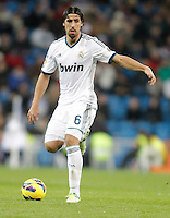 Real Madrid's Sami Khedira during La Liga match. December 16, 2012. (ALTERPHOTOS/Alvaro Hernandez)