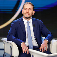 Davide Casaleggio, son of Gianroberto, with whom he crated the platform Rousseau. He contributed to found the Movement 5 Stars as well<br /> Rome February 13th 2020. Talk show Porta a Porta.<br /> Foto Samantha Zucchi Insidefoto