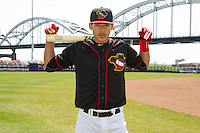 Quad Cities River Bandits shortstop Carlos Correa #1 poses for a photo following a game against the Great Lakes Loons at Modern Woodmen Park on April 29, 2013 in Davenport, Iowa. (Brace Hemmelgarn/Four Seam Images)