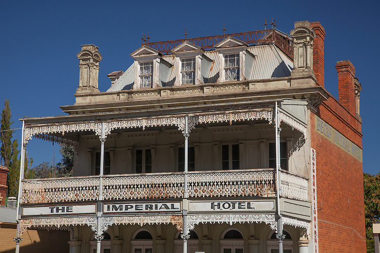 The buildings of the Goldfield towns of interior Victoria give a glimpse into the mid-19th century gold mining era