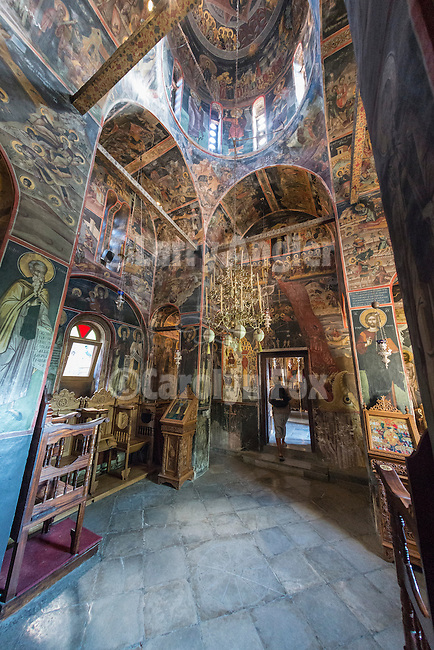 Interior of All Saints Church, Varlaam Monastery, Meteora, Greece..XVI century