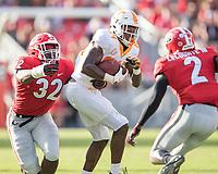 Athens, Georgia - September 29, 2018: Sanford Stadium, the number 2 ranked University of Georgia Bulldogs vs University of Tennessee Volunteers.  Final score Georgia Bulldogs 38, Tennessee Volunteers 12.