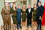 Listowel Military Tattoo :Pictured with the Bombshell Belles at  the Hanger Ball at the Listowel Arms Hotel as part of then Listowel military weekend were commitee members  Padraigh Nolan Emily, Dinny Carroll, Katie, Jim Halpin, Stacey & Damian Stack