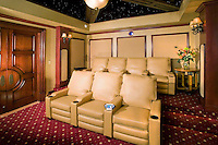 Impressive White Leather Theater Seating