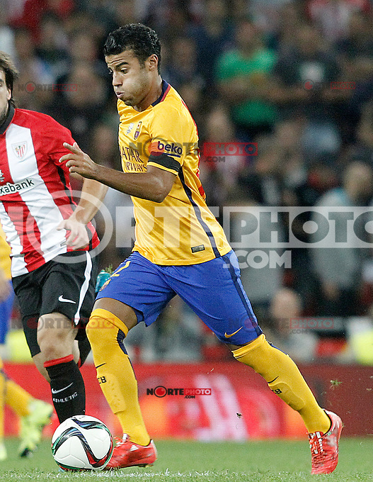 FC Barcelona's Rafinha during Supercup of Spain 1st match.August 14,2015. (ALTERPHOTOS/Acero)