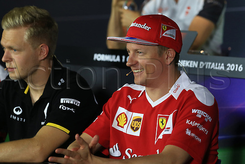 01.09.2016. Monza, Italy. Formula 1 Grand prix of Italy, driver arrival and press conference day.  Scuderia Ferrari – Kimi Raikkonen