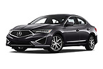 Stock pictures of low aggressive front three quarter view of a 2019 Acura ILX Premium 4 Door Sedan