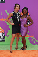 LOS ANGELES, CA July 13- Aly Raisman, Simone Biles, At Nickelodeon Kids' Choice Sports Awards 2017 at The Pauley Pavilion, California on July 13, 2017. Credit: Faye Sadou/MediaPunch