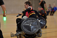 National Wheelchair Rugby Tournament at Te Rauparaha Arena, Porirua, New Zealand on Sunday 11 June 2017.<br /> Photo by Masanori Udagawa<br /> www.photowellington.photoshelter.com.