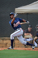 Atlanta Braves Cristian Pache (54) during an instructional league game against the Houston Astros on October 1, 2015 at the Osceola County Complex in Kissimmee, Florida.  (Mike Janes/Four Seam Images)