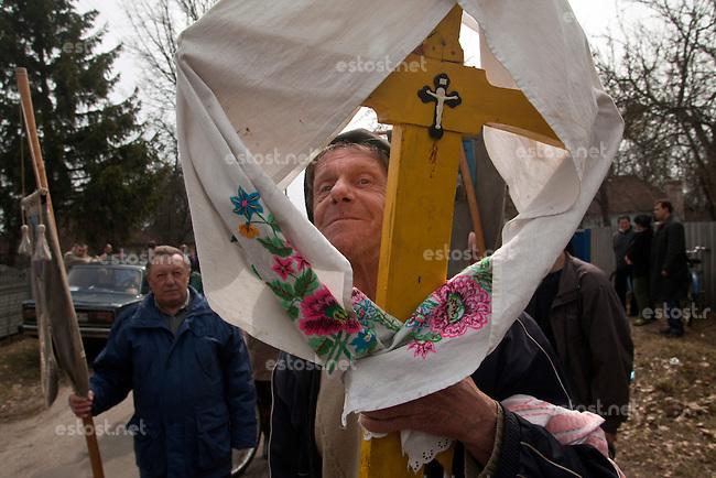 UKRAINE, Chernobyl, Strakholissia village 2010/04/6<br /> LIFE IN ZONE - Funeral in village Strakholissia on border to the Zone of Alienation, Strakholissia, April 6, 2010. <br /> &copy; Vaclav Vasku/EST&amp;OST
