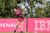 Madelene Sagstrom (SWE) tees off the 5th tee during Friday's Round 2 of The Evian Championship 2018, held at the Evian Resort Golf Club, Evian-les-Bains, France. 14th September 2018.<br /> Picture: Eoin Clarke | Golffile<br /> <br /> <br /> All photos usage must carry mandatory copyright credit (&copy; Golffile | Eoin Clarke)
