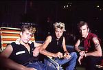 Stray Cats 1981 Lee Rocker, Brian Setzer, Slim Jim Phantom.© Chris Walter.