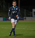 Dundee's Paul McGinn is sent off after he brings down St Mirren's Kenny McLean for the penalty.