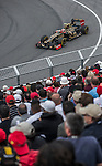 Lotus F1 Team driver Romain Grosjean of France speeds his RS27-2012 car during the F1 Grand Prix du Canada at the Circuit Gilles-Villeneuve on June 08, 2012 in Montreal, Canada. Photo by Victor Fraile / The Power of Sport Images
