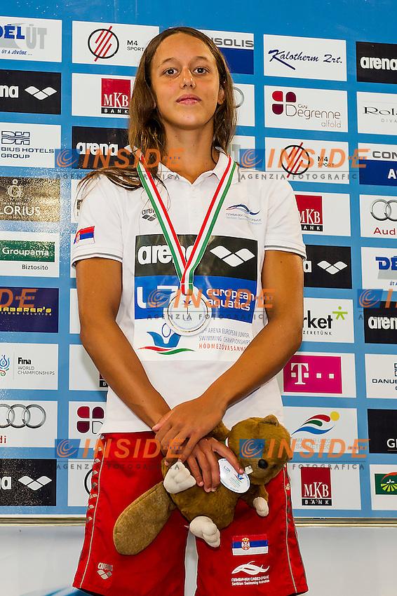 Crevar Anja SRB<br /> 400 Medley Women Final Gold Medal<br /> LEN 43rd Arena European Junior Swimming Championships<br /> Hodmezovasarhely, Hungary <br /> Day01 06-07-2016<br /> Photo Andrea Masini/Deepbluemedia/Insidefoto