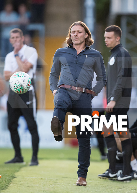 Wycombe Wanderers Manager Gareth Ainsworth during the Carabao Cup match between Wycombe Wanderers and Northampton Town at Adams Park, High Wycombe, England on 14 August 2018. Photo by Andy Rowland.