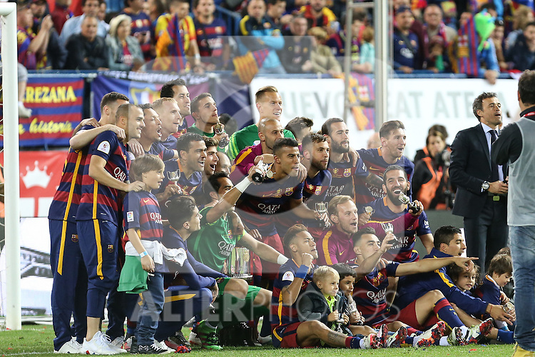 FC Barcelona's team  during Spanish Kings Cup Final match. May 22,2016. (ALTERPHOTOS/Rodrigo Jimenez)