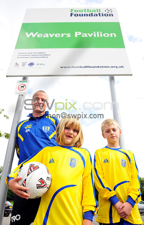 Pix ; Simon Wilkinson/SWpix.com Football Foundation Weavers Pavilion, Brompton North Yorkshire. 10 /09/2011..William Hauge opens Weavers Pavilion in Brompton North Yorkshire.