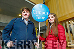 Gearoid Molyneaux (Clounmacon, Listowel) and Kayla Hannon from Moyvane doing their tour of the IT Tralee's Open Day on Friday Morning.