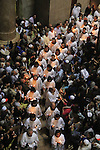 Israel, Jerusalem, the Latin Easter Sunday procession at the Church of the Holy Sepulchre