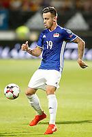 Liechtenstein's Dennis Salanovic during FIFA World Cup 2018 Qualifying Round match. September 5,2016.(ALTERPHOTOS/Acero)