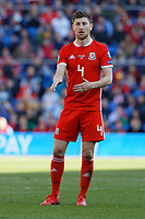 Ben Davies of Wales in action during the UEFA EURO 2020 Qualifier match between Wales and Slovakia at the Cardiff City Stadium, Cardiff, Wales, UK. Sunday 24 March 2019