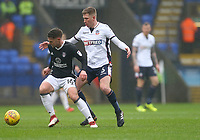 Bolton Wanderers'  Josh Vela  loses the ball to Oliver Norwood  of Fulham <br /> <br /> Photographer Leila Coker/CameraSport<br /> <br /> The EFL Sky Bet Championship - Bolton Wanderers v Fulham - Saturday 10th February 2018 - Macron Stadium - Bolton<br /> <br /> World Copyright &copy; 2018 CameraSport. All rights reserved. 43 Linden Ave. Countesthorpe. Leicester. England. LE8 5PG - Tel: +44 (0) 116 277 4147 - admin@camerasport.com - www.camerasport.com