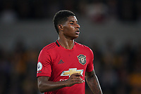 Marcus Rashford of Man Utd during the Premier League match between Wolverhampton Wanderers and Manchester United at Molineux, Wolverhampton, England on 19 August 2019. Photo by Andy Rowland.