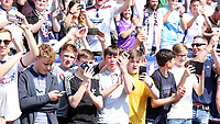 Bolton Wanderers fans celebrate at the end of todays match<br /> <br /> Photographer Rachel Holborn/CameraSport<br /> <br /> The EFL Sky Bet Championship - Bolton Wanderers v Nottingham Forest - Sunday 6th May 2018 - Macron Stadium - Bolton<br /> <br /> World Copyright &copy; 2018 CameraSport. All rights reserved. 43 Linden Ave. Countesthorpe. Leicester. England. LE8 5PG - Tel: +44 (0) 116 277 4147 - admin@camerasport.com - www.camerasport.com