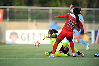 Boyds, MD - Saturday May 06, 2017: Francisca Ordega, Kailen Sheridan during a regular season National Women's Soccer League (NWSL) match between the Washington Spirit and Sky Blue FC at Maureen Hendricks Field, Maryland SoccerPlex.