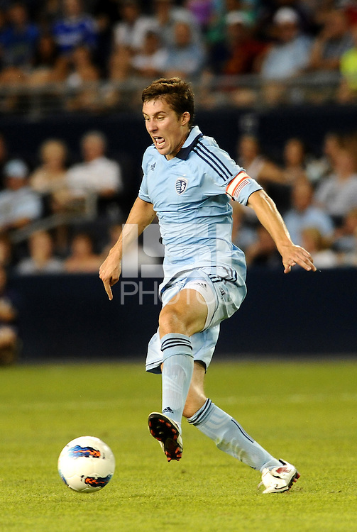 Sporting KC defender Matt Besler in action... Sporting Kansas City and Newcastle United played to a scoreless tie in an international friendly at LIVESTRONG Sporting Park, Kansas City, Kansas.