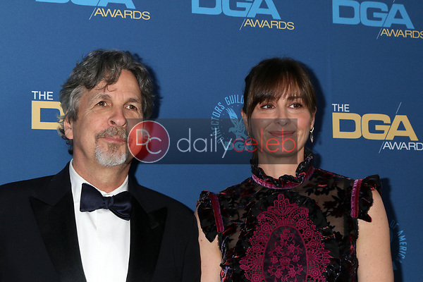 Peter Farrelly, Melinda Farrelly<br /> at the 71st Annual Directors Guild Of America Awards, Ray Dolby Ballroom, Hollywood, CA 02-02-19<br /> David Edwards/DailyCeleb.com 818-249-4998