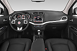 Stock photo of straight dashboard view of a 2014 Fiat FREEMONT LOUNGE 5 Door SUV 2WD Dashboard